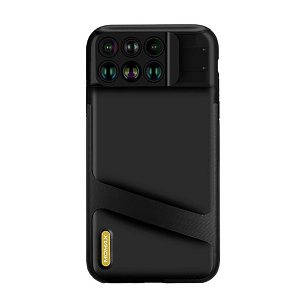 Чехол с объективами Momax X-Lens 6-in-1 Black для iPhone XS Max
