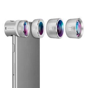 Купить Универсальный объектив Momax X-Lens Pro Set 4 in 1 Premium Lens Kit Silver