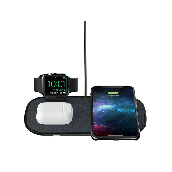 Беспроводная зарядка Mophie 3-in-1 Wireless Charging Pad Black
