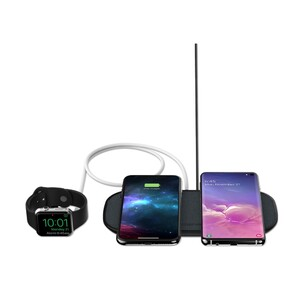 Купить Беспроводная зарядка Mophie 2-in-1 Dual Wireless Charging Pad для iPhone/Samsung/AirPods
