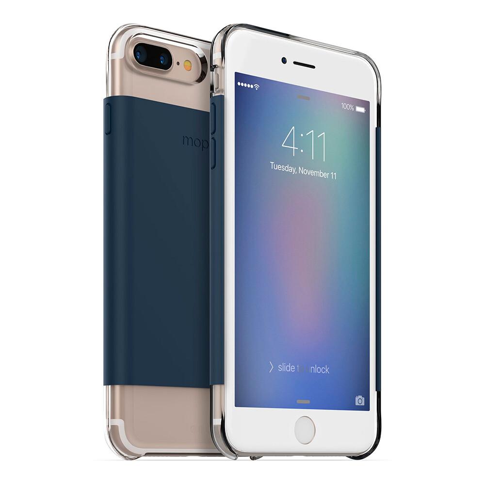 Магнитный чехол Mophie Hold Force Base Case Navy Wrap для iPhone 7 Plus   8 Plus