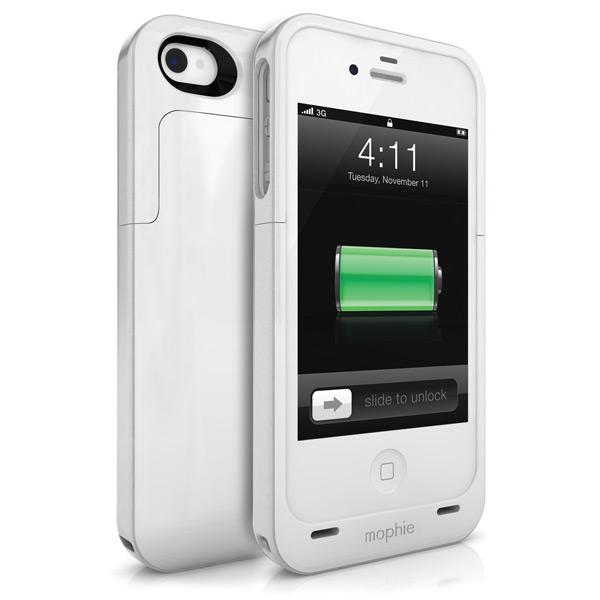 Чехол-аккумулятор Mophie Juice Pack Plus Белый для iPhone 4/4S
