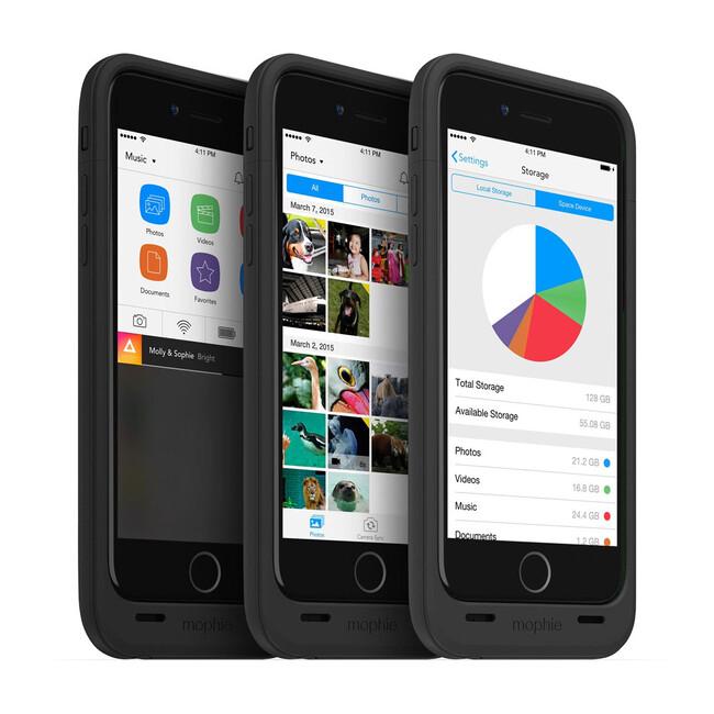Чехол Mophie Space Pack 64GB с аккумулятором и памятью для iPhone 6/6s