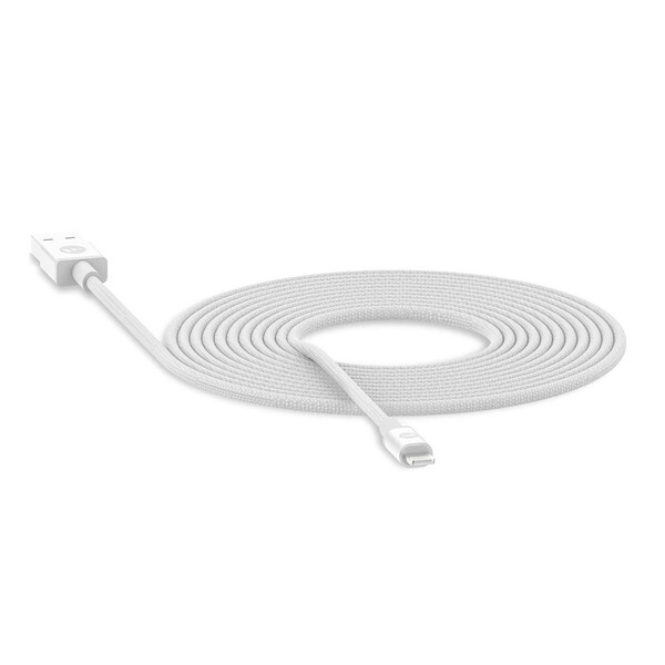 Зарядный кабель для iPhone Mophie USB-A to Lightning White 3m