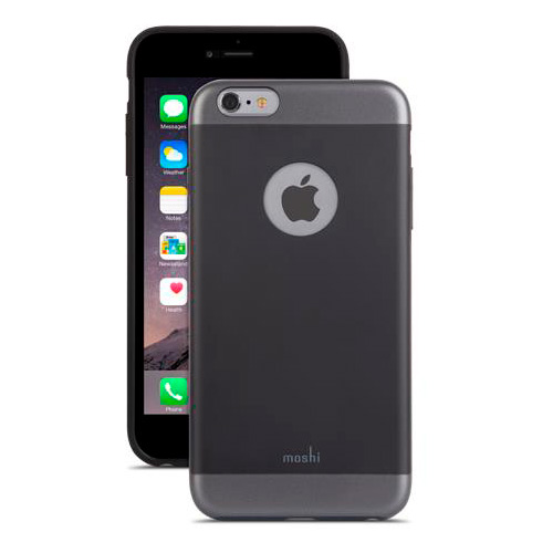 Чехол Moshi iGlaze Graphite Black для iPhone 6/6s Plus