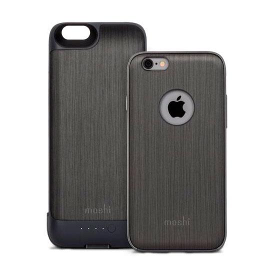 Чехол с аккумулятором Moshi iGlaze Ion Steel Black для iPhone 6/6s