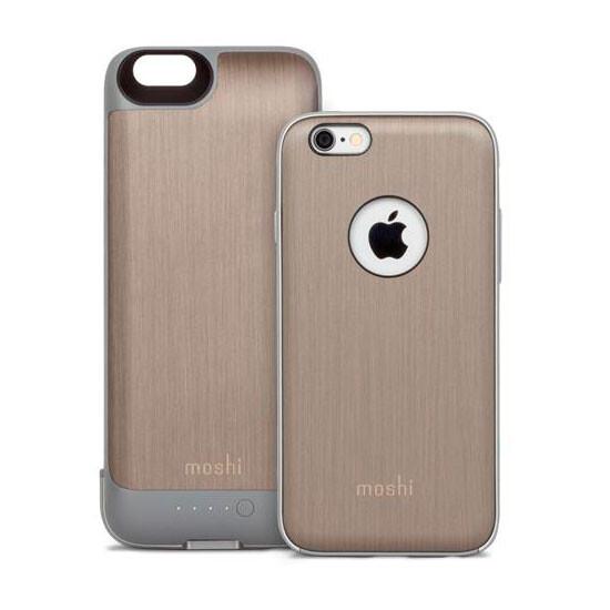 Чехол с аккумулятором Moshi iGlaze Ion Brushed Titanium для iPhone 6/6s