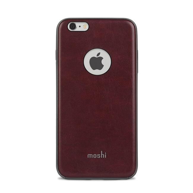 Кожаный чехол Moshi iGlaze Napa Burgundy Red для iPhone 6/6s Plus