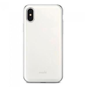 Купить Чехол-накладка Moshi iGlaze Pearl White для iPhone X/XS