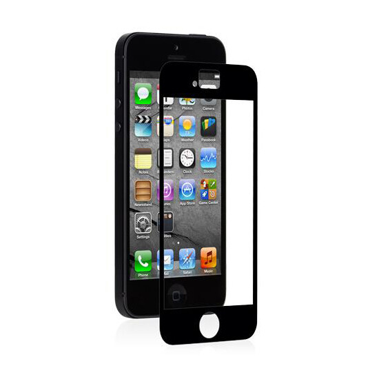 Защитная пленка Moshi iVisor AG Black для iPhone SE/5S/5C/5