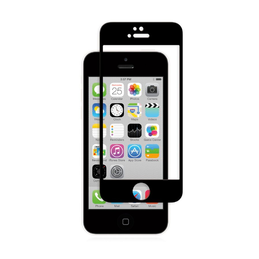 Защитное стекло Moshi iVisor Glass Black для iPhone 5/5S/SE/5C