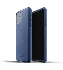 Купить Кожаный чехол MUJJO Full Leather Case Monaco Blue для iPhone 11