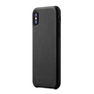 Купить Кожаный чехол MUJJO Full Leather Case Black для iPhone X