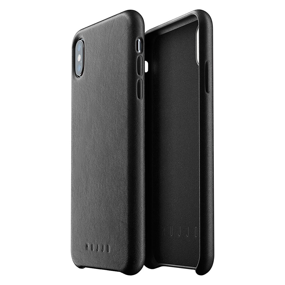 Кожаный чехол MUJJO Full Leather Case Black для iPhone XS Max