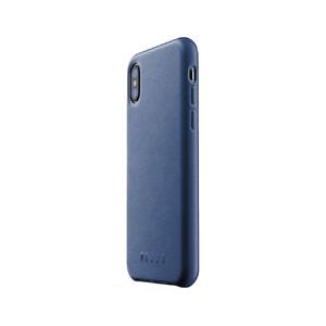 Купить Кожаный чехол MUJJO Full Leather Case Blue для iPhone X/XS