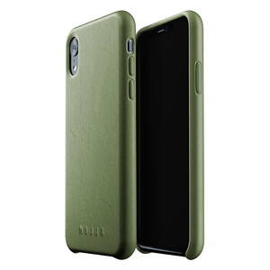 Купить Кожаный чехол MUJJO Full Leather Case Olive для iPhone XR