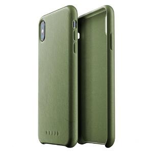 Купить Кожаный чехол MUJJO Full Leather Case Olive для iPhone XS Max