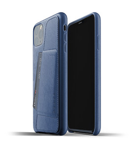 Купить Кожаный чехол MUJJO Full Leather Wallet Case Monaco Blue для iPhone 11 Pro Max