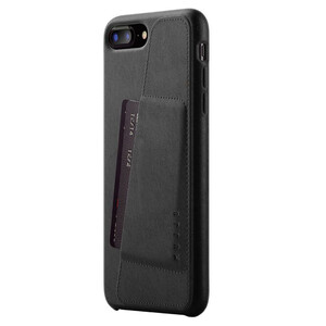 Купить Кожаный чехол с отделением для карт MUJJO Full Leather Wallet Case Black для iPhone 8 Plus/7 Plus