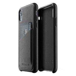 Купить Кожаный чехол с отделением для карт MUJJO Full Leather Wallet Case Black для iPhone XR