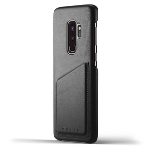 Купить Кожаный чехол MUJJO Full Leather Wallet Case Black для Samsung Galaxy S9 Plus