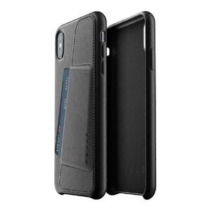 Купить Кожаный чехол с отделением для карт MUJJO Full Leather Wallet Case Black для iPhone XS Max