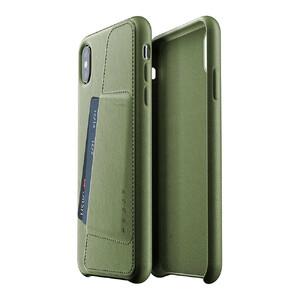 Купить Кожаный чехол с отделением для карт MUJJO Full Leather Wallet Case Olive для iPhone XS Max