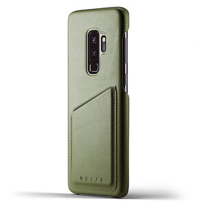 Купить Кожаный чехол MUJJO Full Leather Wallet Case Olive для Samsung Galaxy S9 Plus