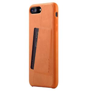 Купить Кожаный чехол с отделением для карт MUJJO Full Leather Wallet Case Tan для iPhone 8 Plus/7 Plus