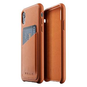 Купить Кожаный чехол с отделением для карт MUJJO Full Leather Wallet Case Tan для iPhone XR