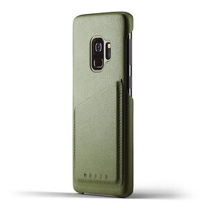 Купить Кожаный чехол MUJJO Full Leather Wallet Case Olive для Samsung Galaxy S9