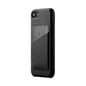 Купить Кожаный чехол с отделением для карт MUJJO Leather Wallet Case Black для iPhone 8/7