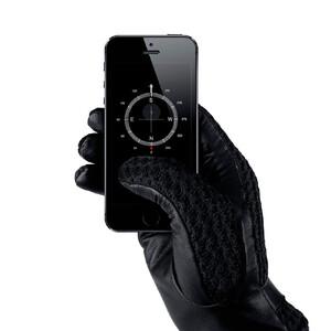 Купить Сенсорные перчатки MUJJO Leather Crochet Touchscreen Gloves Medium (8.0)