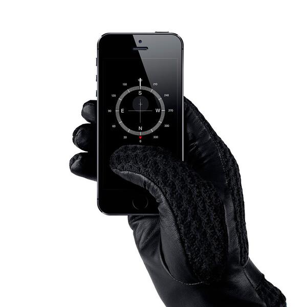Сенсорные перчатки MUJJO Leather Crochet Touchscreen Gloves Medium (8.5)