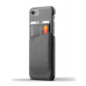 Купить Кожаный чехол MUJJO Leather Wallet Case Gray для iPhone 7