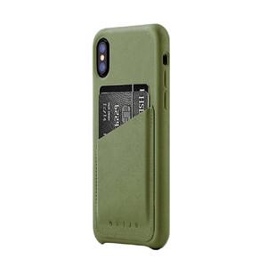 Купить Кожаный чехол MUJJO Leather Wallet Case Olive для iPhone X/XS