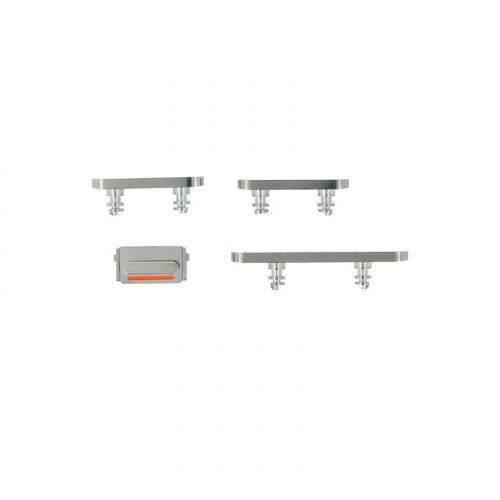 Купить Набор боковых кнопок (Silver) для iPhone 12 Pro | 12 Pro Max