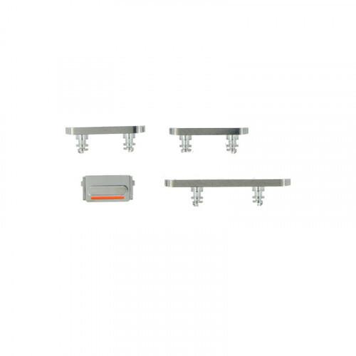 Набор боковых кнопок (Silver) для iPhone 12 Pro | 12 Pro Max