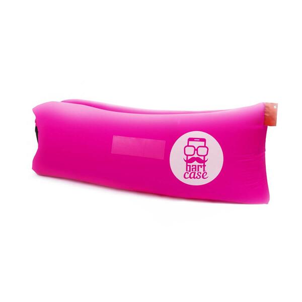 Надувной шезлонг (ламзак) BartCase Розовый (без кармана)
