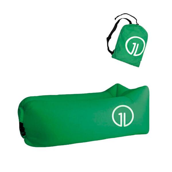 Надувной шезлонг (ламзак) iLoungeMax Темно-Зеленый (Pine Green) (с карманом)