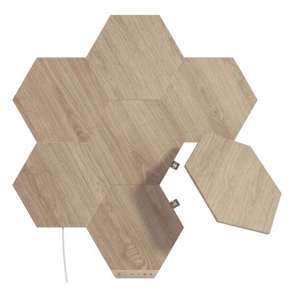 Умная система освещения Nanoleaf Elements Wood Look Hexagons Starter Kit Apple HomeKit (7 модулей)