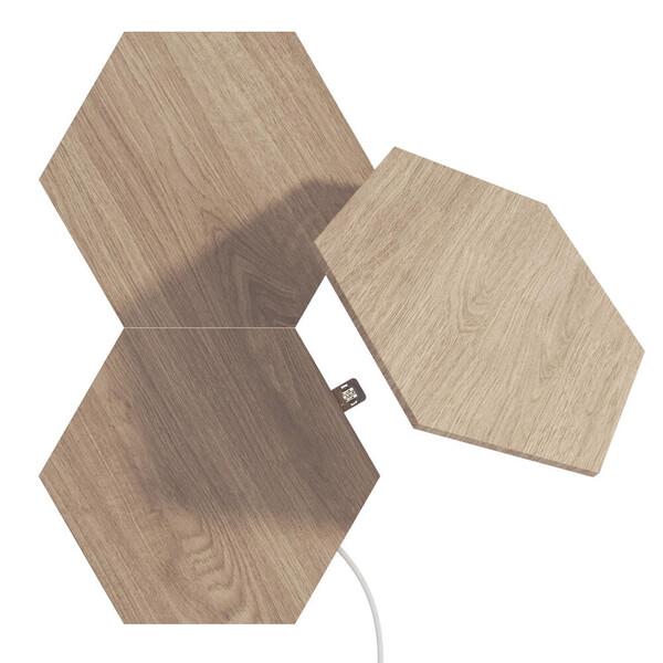 Дополнительные модули Nanoleaf Elements Wood Look Hexagons Starter Kit Apple HomeKit (3 модуля)