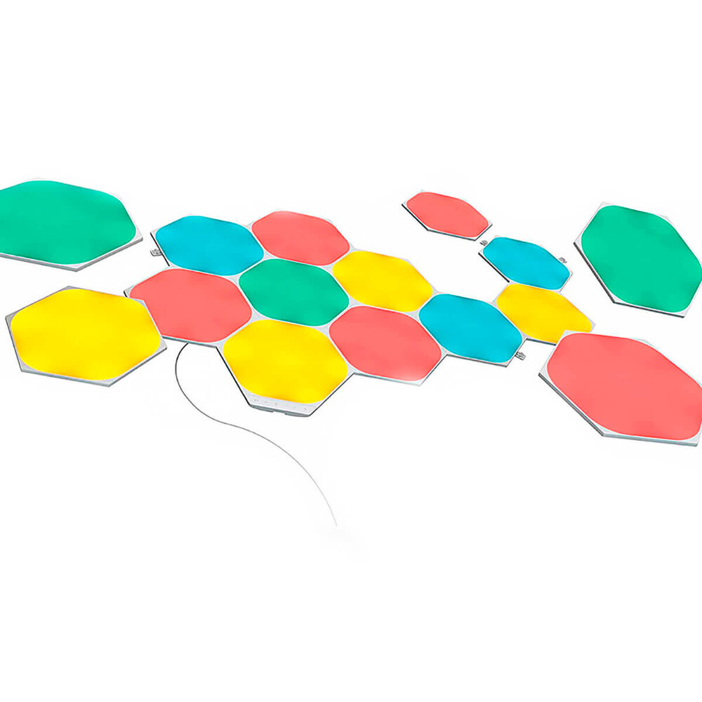 Купить Умная система освещения Nanoleaf Shapes Hexagon Starter Kit Apple HomeKit (15 модулей)