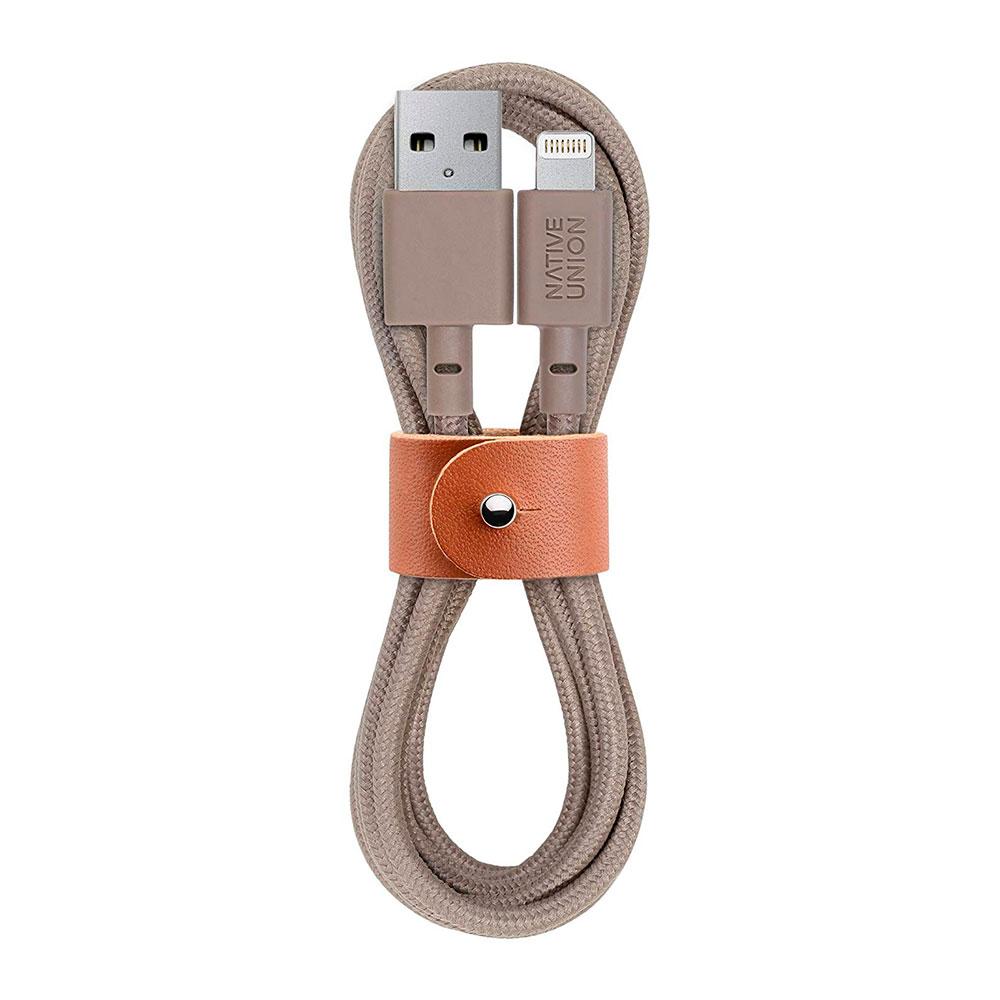 Купить Плетеный кабель Native Union Belt Cable Taupe Lightning to USB 1.2m