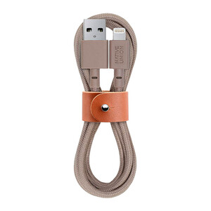 Купить Плетеный кабель Native Union Belt Cable Taupe Lightning to USB 1.2m