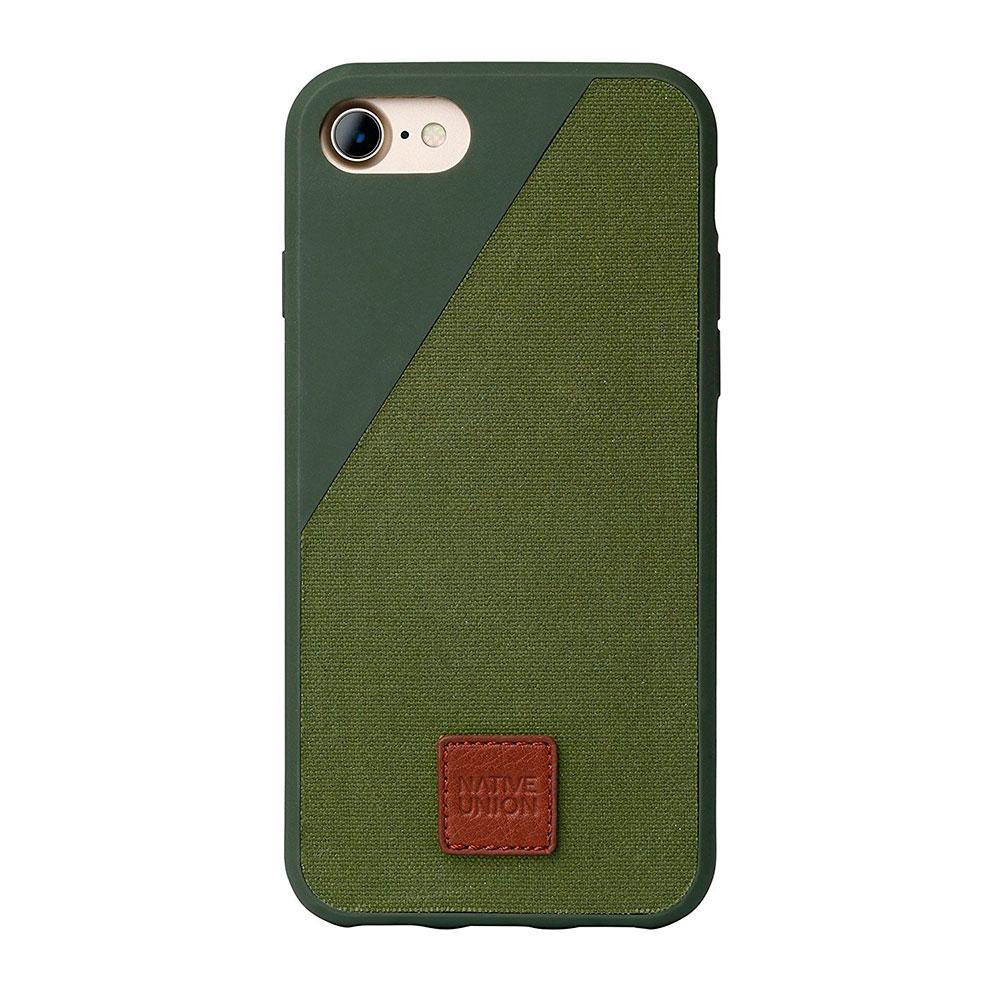 Купить Тканевый чехол Native Union CLIC 360° Olive для iPhone 7 | 8 | SE 2020