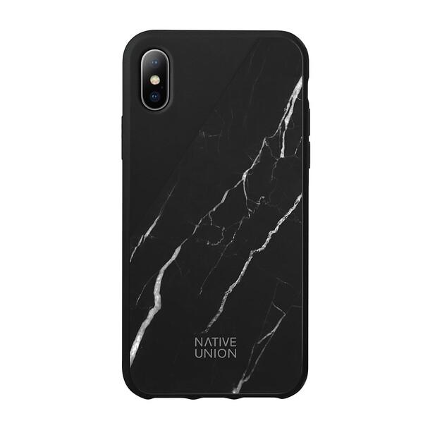 Мраморный чехол Native Union CLIC Marble Black для iPhone X | XS