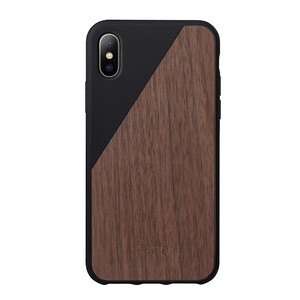 Купить Деревянный чехол Native Union CLIC Wooden Black/Walnut Wood для iPhone X/XS