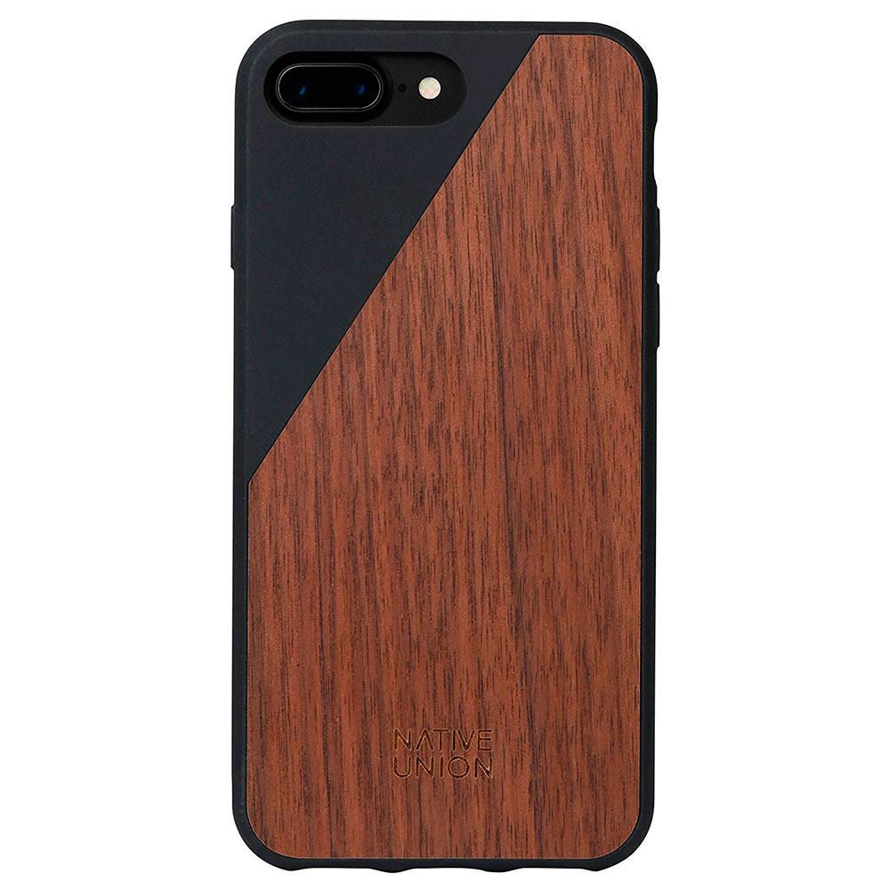 Купить Деревянный чехол Native Union CLIC Wooden Black | Walnut для iPhone 7 Plus | 8 Plus
