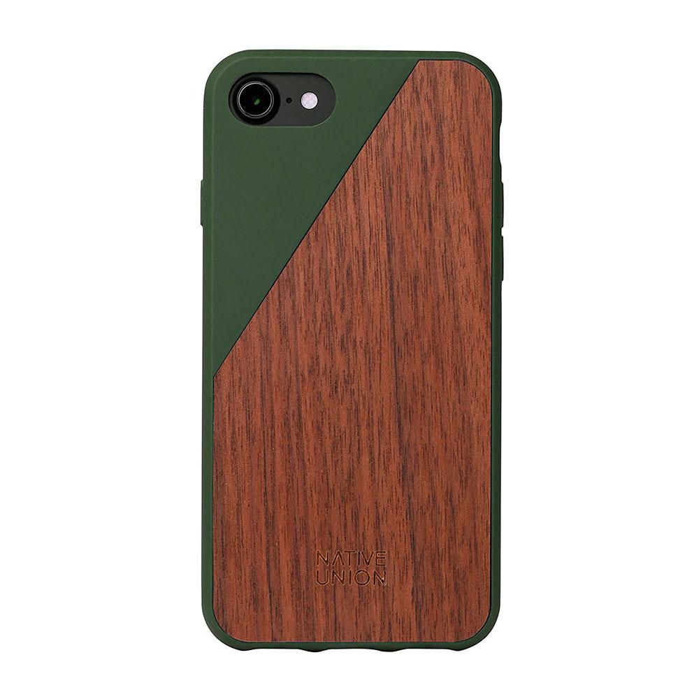 Купить Деревянный чехол Native Union CLIC Wooden Olive | Walnut для iPhone 7 | 8 | SE 2020